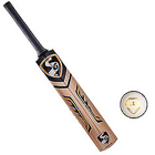 SG Nexus Plus Kashmir Willow Cricket Bat (6, 950 - 1250 g) and SG Club White Cricket Ball for Cricket Lovers