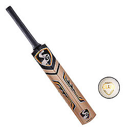 SG Nexus Plus Kashmir Willow Cricket Bat (6, 950 - 1250 g) and SG Club White Cricket Ball for Cricket Lovers