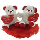Smart Looking Couple Teddy with Warm Indulgence