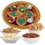 Thali with Almonds, Raisen, Cashews & Pistas
