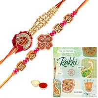 Beautiful Rakhi Set with Rakhi Card for your Beloved Brother