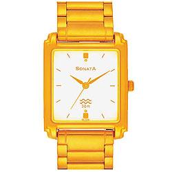 Attractive Titan Sonata Watch for Men in Golden Colour